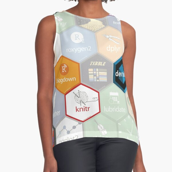 R hex design (large hexes) Sleeveless Top
