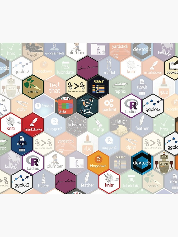 R hex design (large hexes) by ameliamn