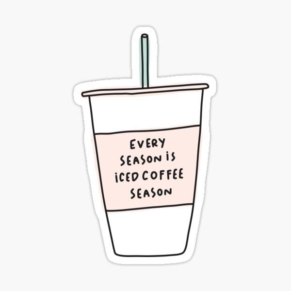 Iced coffee season coffee cup Sticker