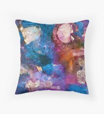 Blue Harmony Throw Pillow
