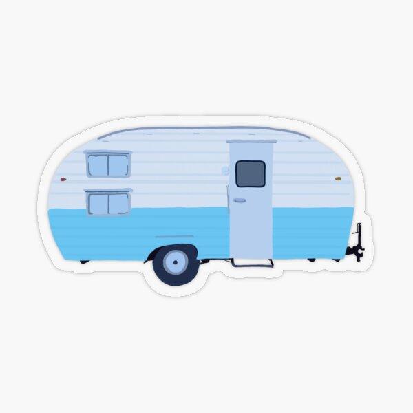 Vintage Camper Transparent Sticker