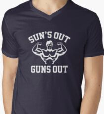 Sun's Out Guns Out Men's V-Neck T-Shirt