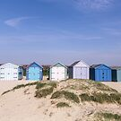 Beach hut blues by Zoe Power
