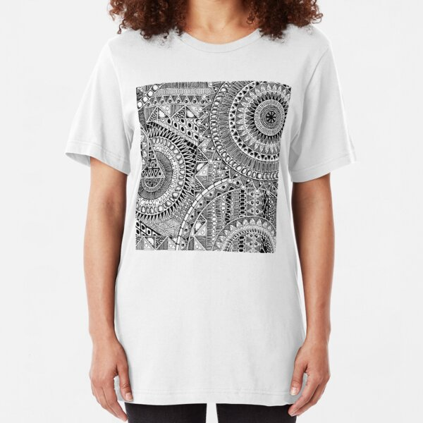 ABC Tribal Graphic for teeshirts & hoodies:   Slim Fit T-Shirt