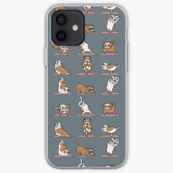 English Bulldog Yoga iPhone Soft Case