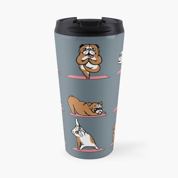 English Bulldog Yoga Travel Mug