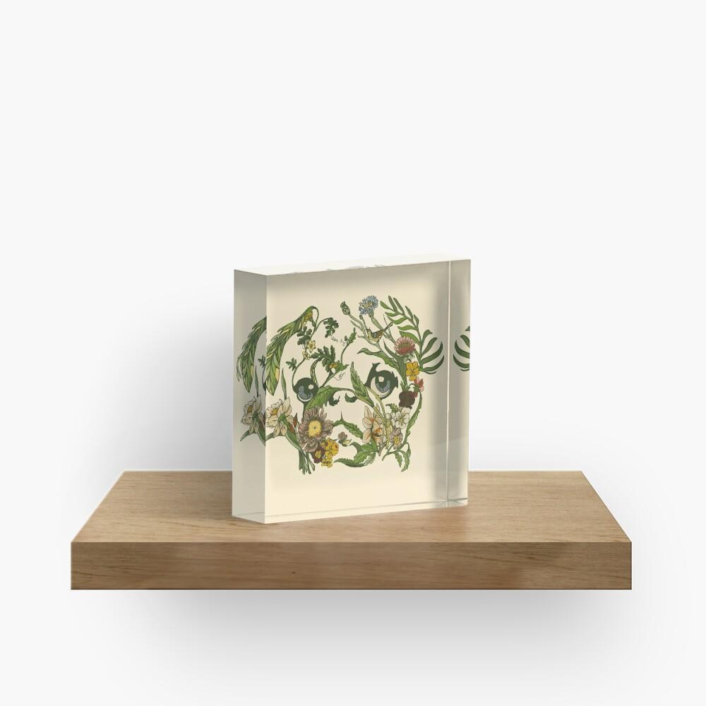 Botanical Pug Acrylic Block