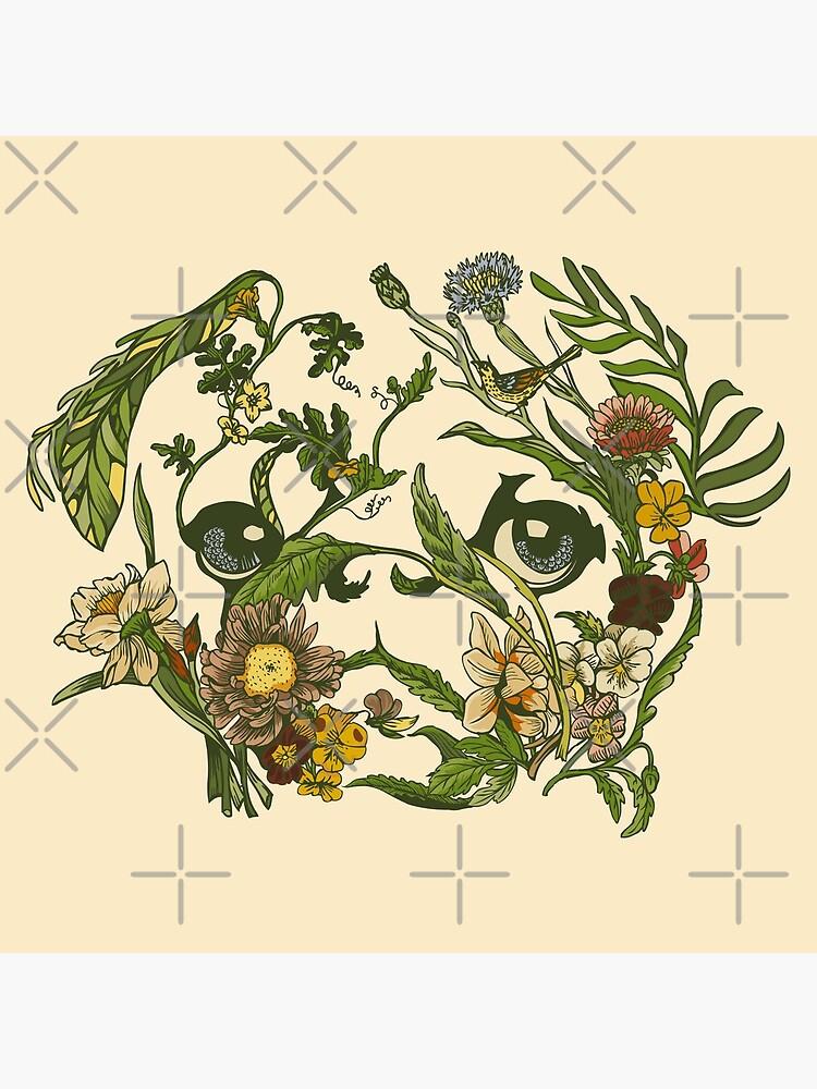 Botanical Pug by Huebucket