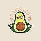 Find Your Center Avocado Yoga by Huebucket
