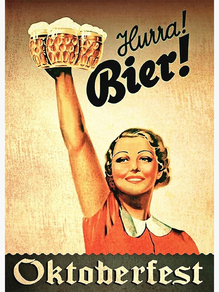 Vintage 1930s Oktoberfest Hurra Bier  by edsimoneit