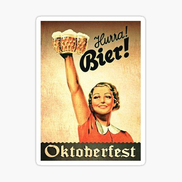 Vintage 1930s Oktoberfest Hurra Bier  Sticker
