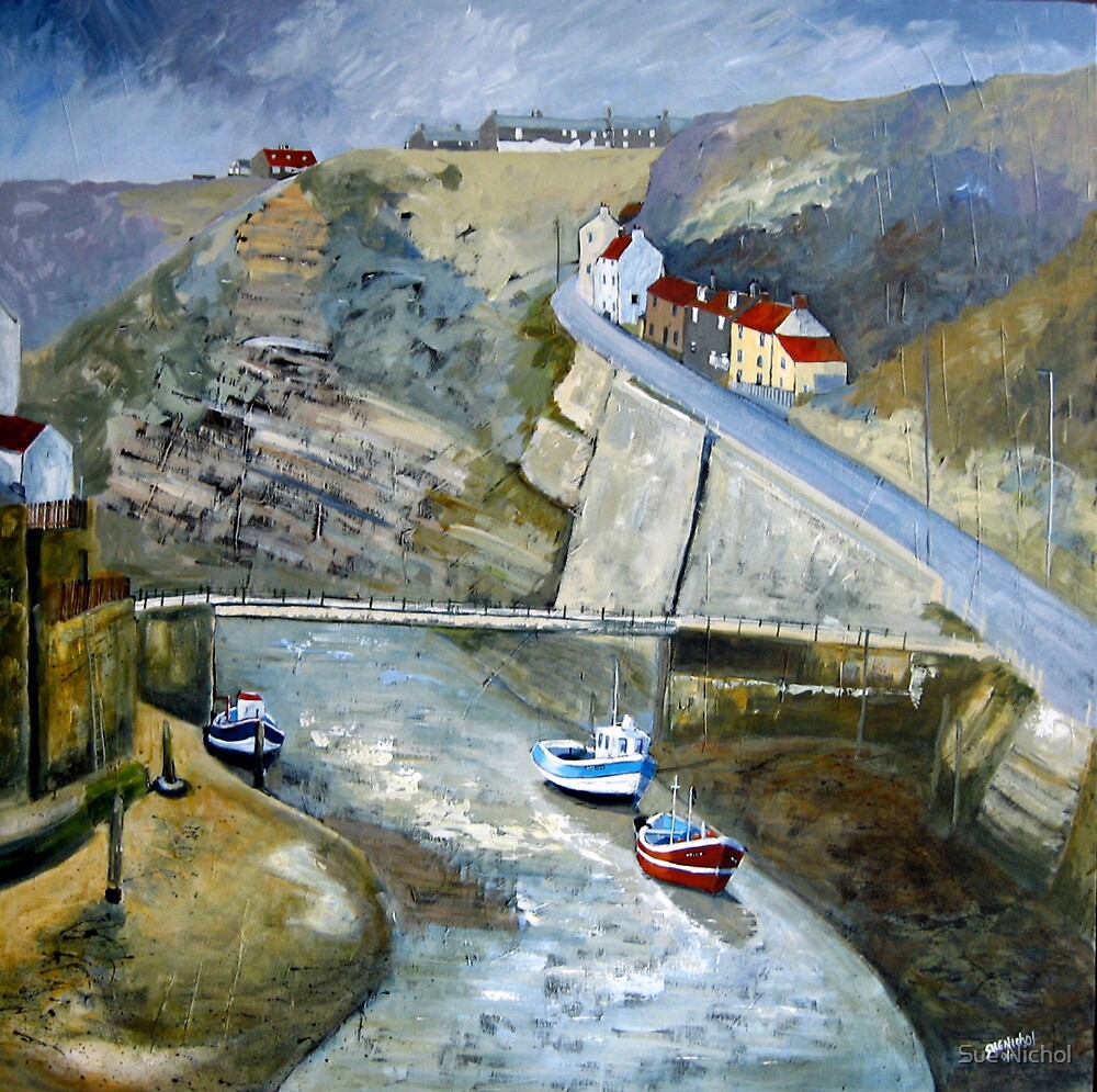 After The Rain, Staithes by Sue Nichol