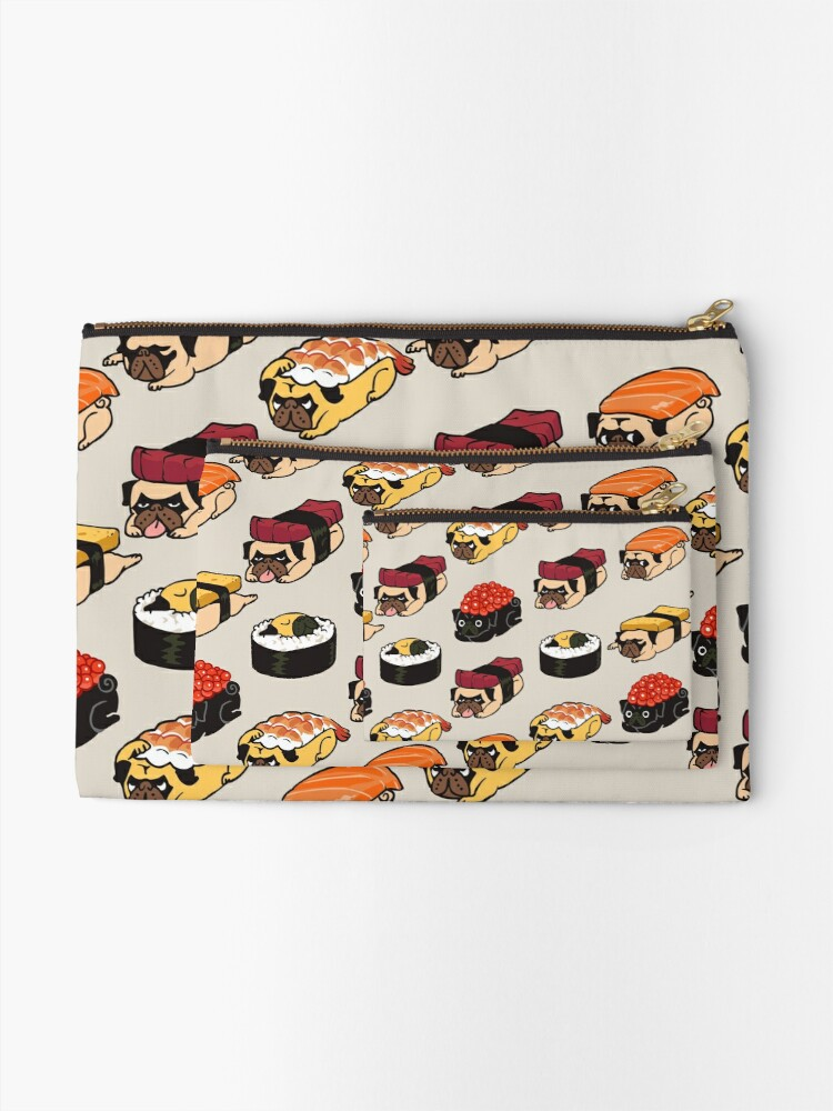 Alternate view of Sushi Pug Zipper Pouch