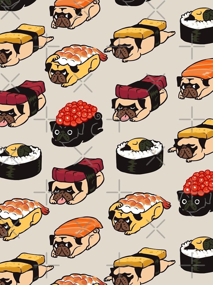 Sushi Pug by Huebucket