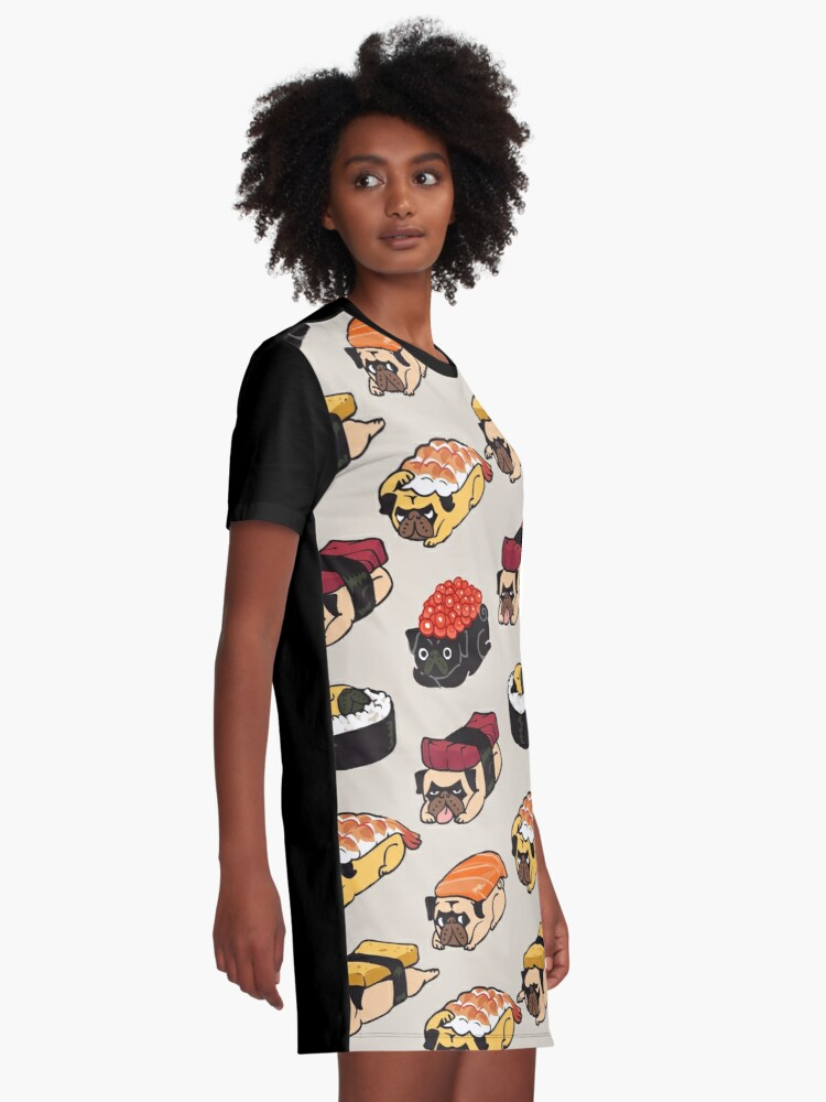 Alternate view of Sushi Pug Graphic T-Shirt Dress