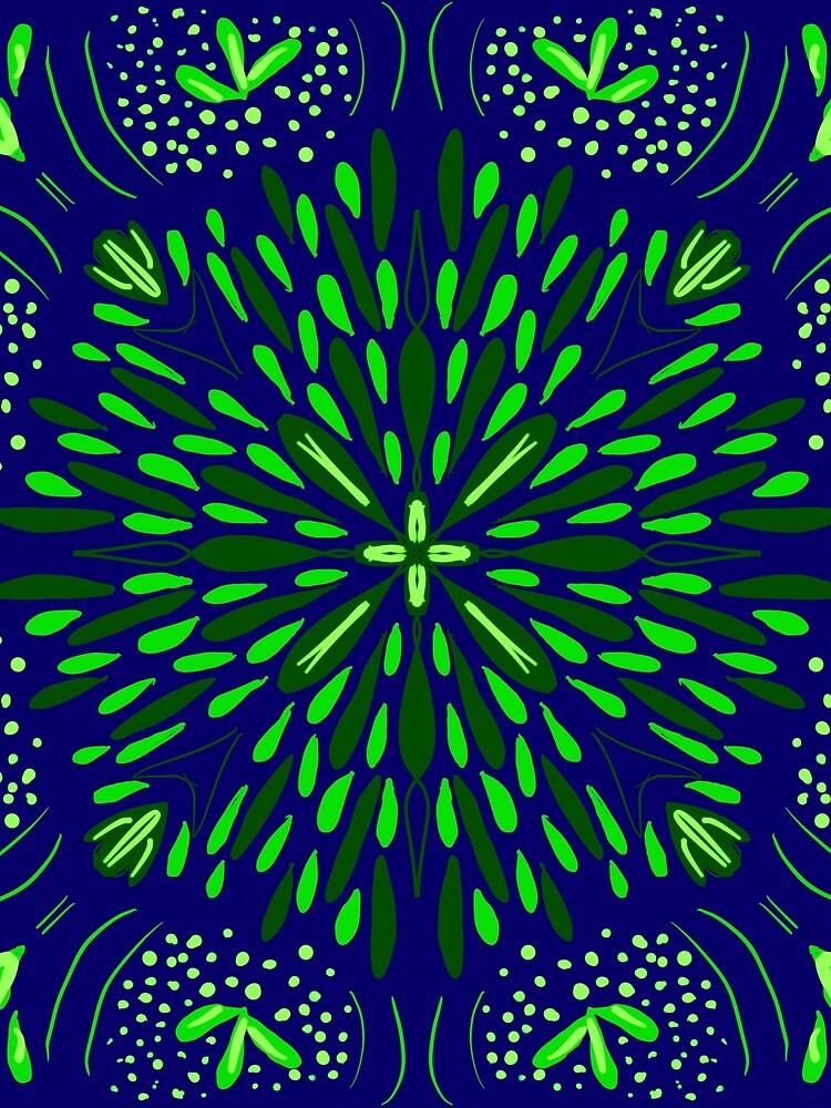 Blue Green Star Flower by roseglasses