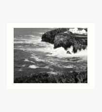 Achromatic coastline Art Print