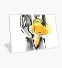 Saxophonist Musician Drawing Laptop Skin