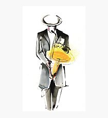 Saxophonist Musician Drawing Photographic Print