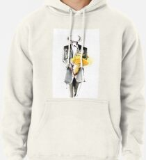 Saxophonist Musician Drawing Pullover Hoodie