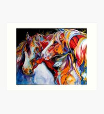 TWO SPIRITS EQUINE SOUTHWEST ORIGINAL by MARCIA BALDWIN Art Print
