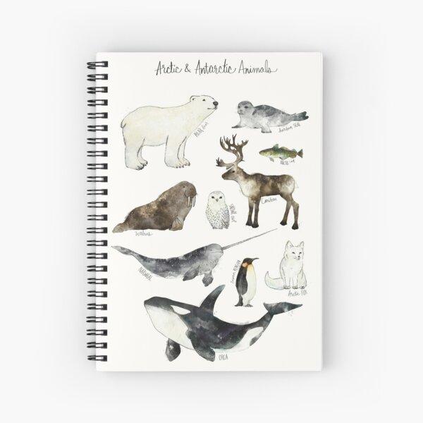 Arctic & Antarctic Animals Spiral Notebook