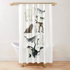 Arctic & Antarctic Animals Shower Curtain
