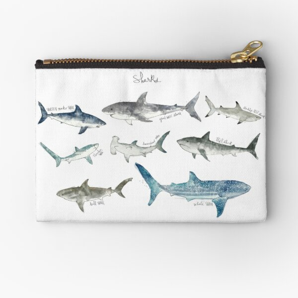 Sharks Zipper Pouch