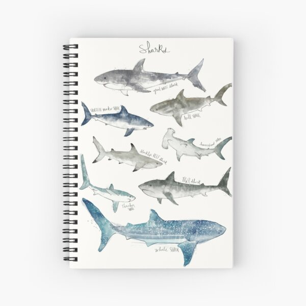 Sharks Spiral Notebook