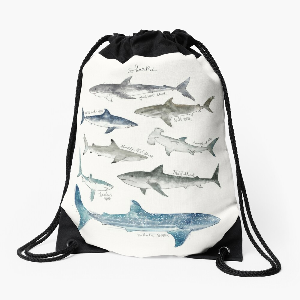 Sharks Drawstring Bag