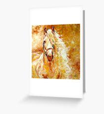 GOLDEN GRACE EQUINE ART ORIGINAL by MARCIA BALDWIN Greeting Card