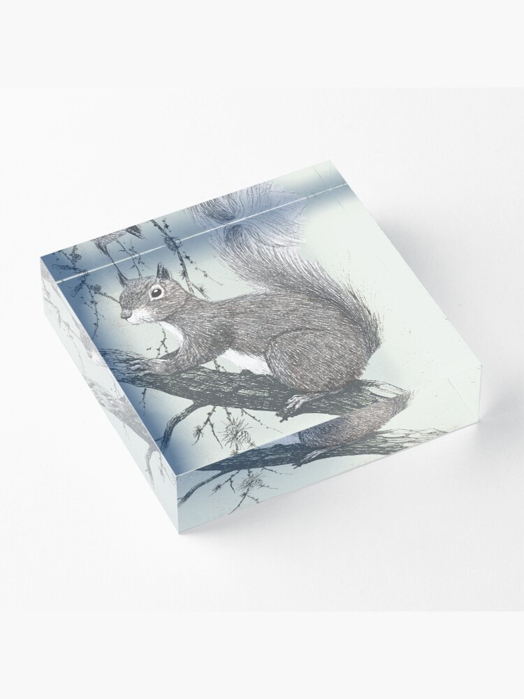Alternate view of Squirrel in a tree Acrylic Block