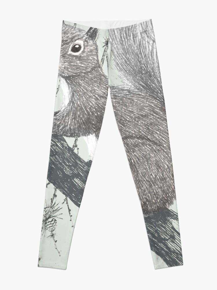 Alternate view of Squirrel in a tree Leggings