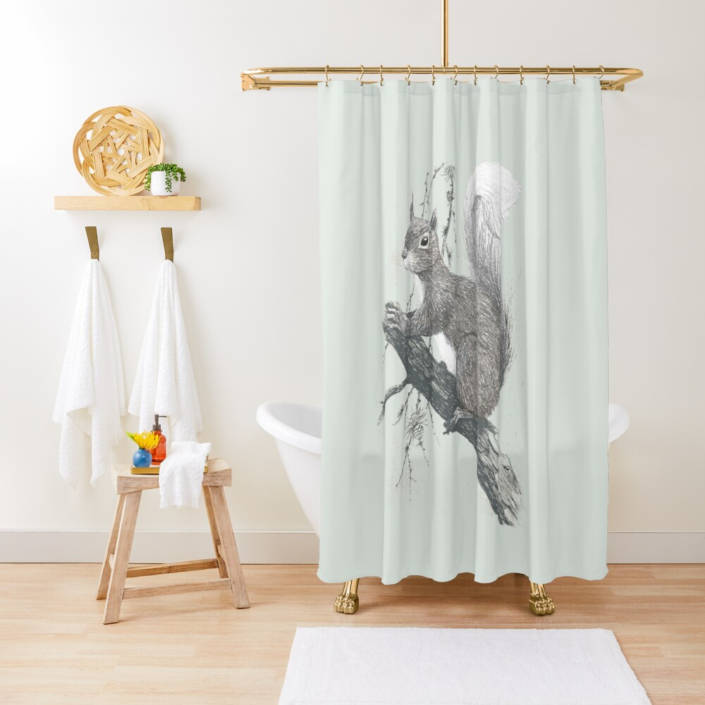Squirrel in a tree Shower Curtain