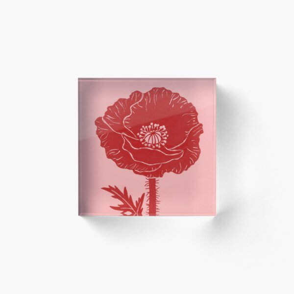 Poppy Acrylic Block