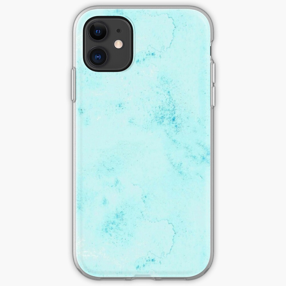 Watercolor Cerulean Blue Hand-Painted iPhone Case & Cover