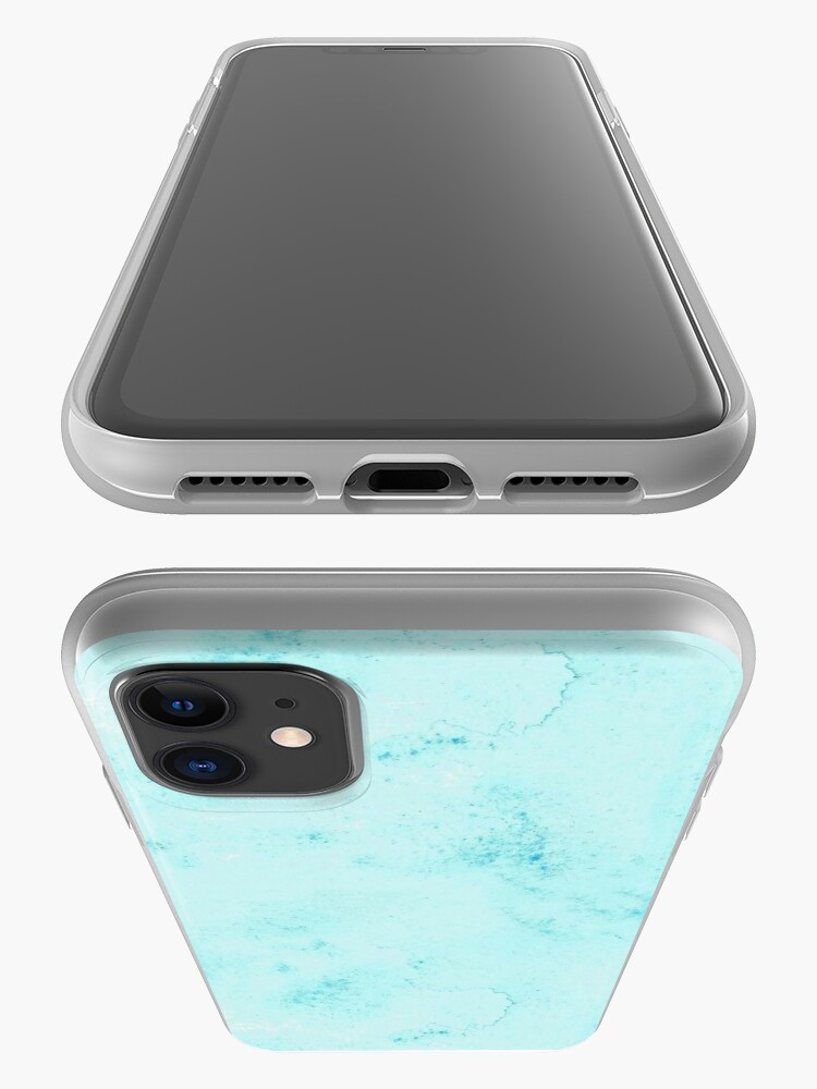 Alternate view of Watercolor Cerulean Blue Hand-Painted iPhone Case & Cover