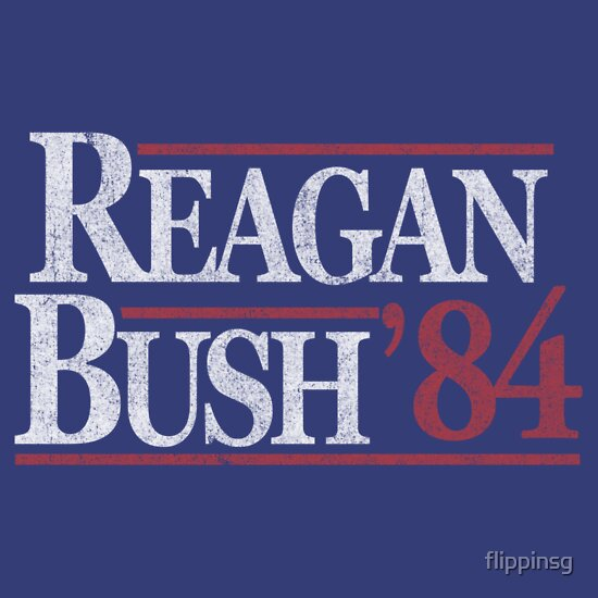 TShirtGifter presents: Vintage Reagan Bush 1984 T-Shirt