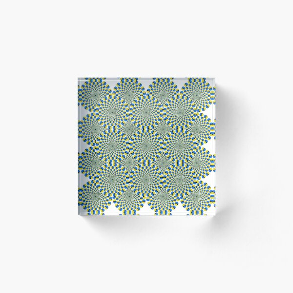 #Optical #Illusion #Pattern Abstract Decoration #Art Illustration Design Flower Acrylic Block
