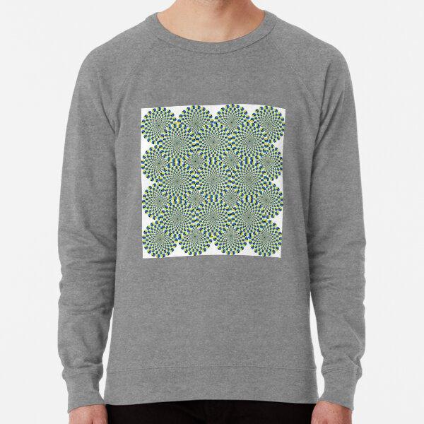 #Optical #Illusion #Pattern Abstract Decoration #Art Illustration Design Flower Lightweight Sweatshirt