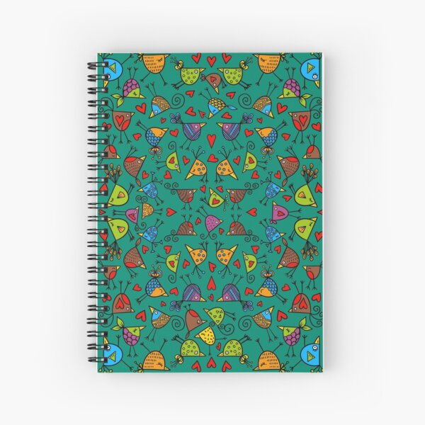 Dancing Birds Spiral Notebook