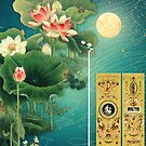 Chinese Lotus Full Moon Garden by Jenny Lloyd