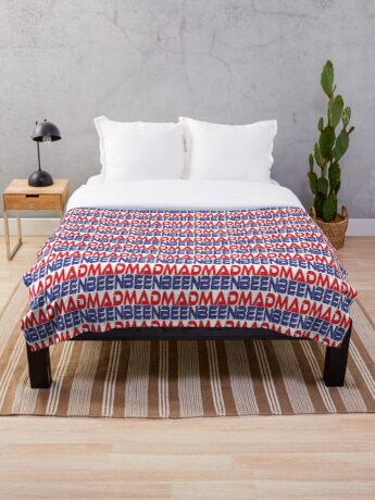 #OurPatriotism: Been Mad (Red, White, Blue) by Onjena Yo Throw Blanket