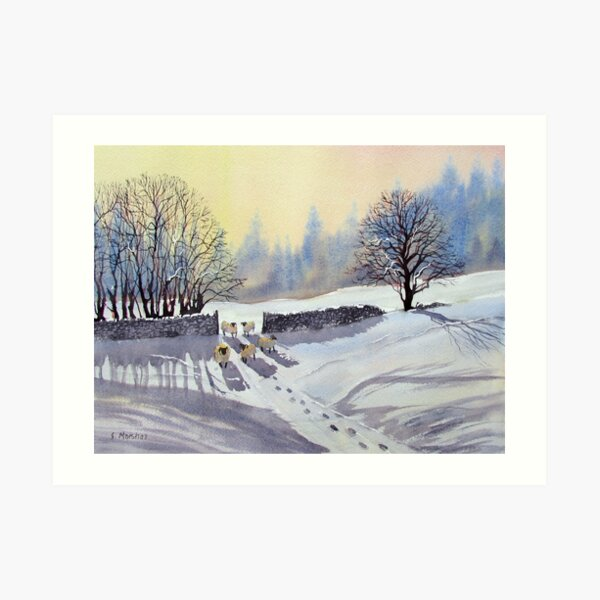 A Gap in the Winter Wall Art Print