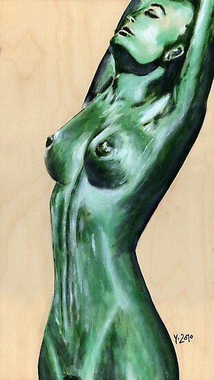 nude green II by Yvonne Lautenschlaeger aka medea