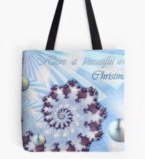 White Christmas Card Tote Bag