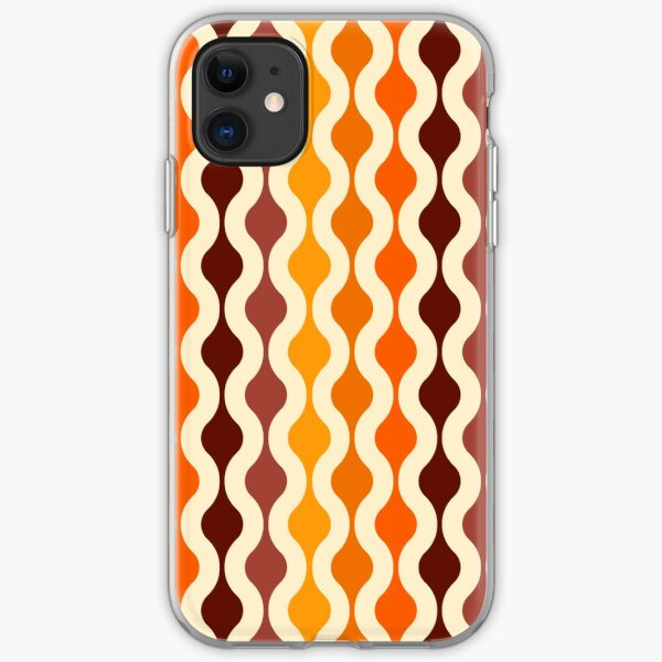 Groovy 70's pattern fall colors iPhone Soft Case