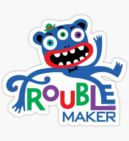 Trouble Maker III - on lights Sticker
