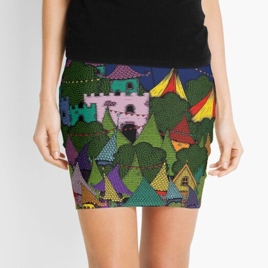 Rainbow City Mini Skirt