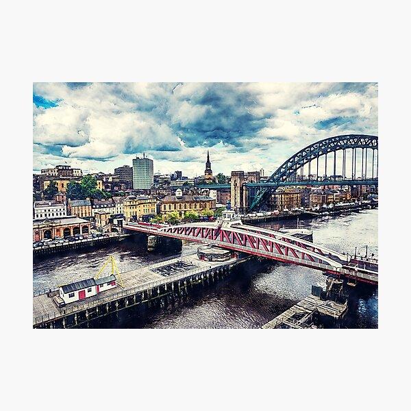 Newcastle upon Tyne city art #newcastle #england Photographic Print
